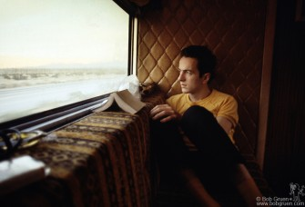 Joe on the tour bus 1979.