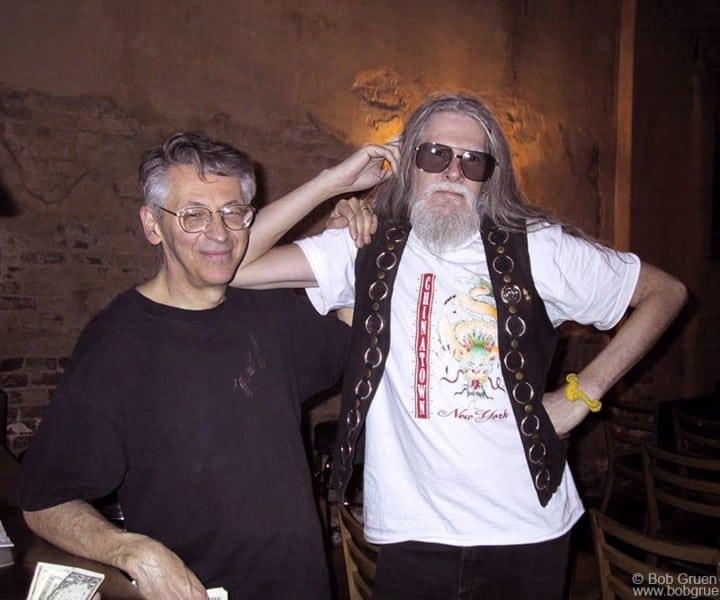 Peter Stampfel and Steve Weber, Tonic Club, NYC. April 15, 2001. <P>Image #: C-231  © Bob Gruen