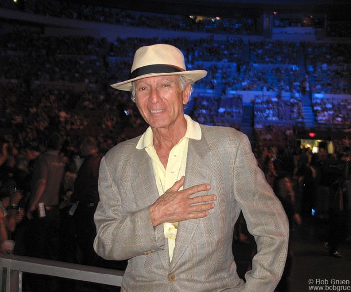 Ron Delsener, MSG, NYC. July 6, 2010. <P>Image #: C-286  © Bob Gruen