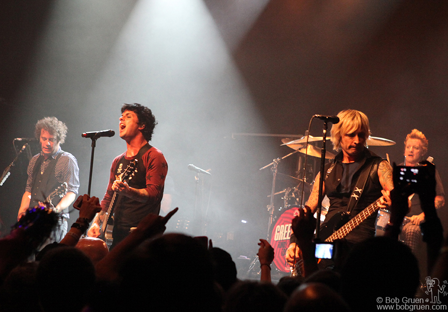Sept 15 - NYC - Green Day performing at Irving Plaza for a special fan club show.