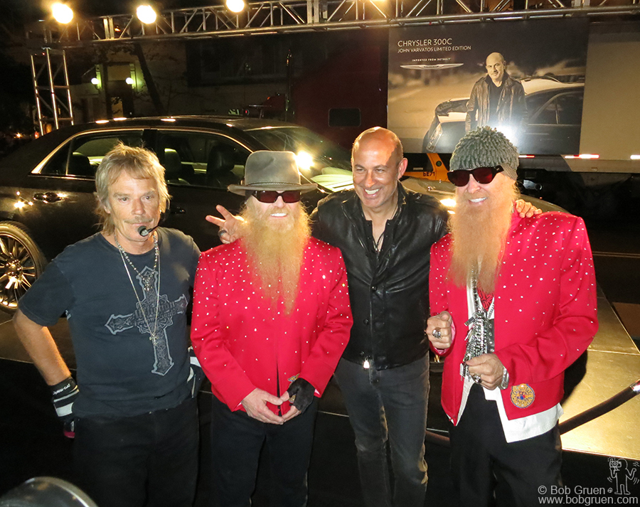 Sept 11 - NYC - ZZ Top and John Varvatos before their show during fashion week.