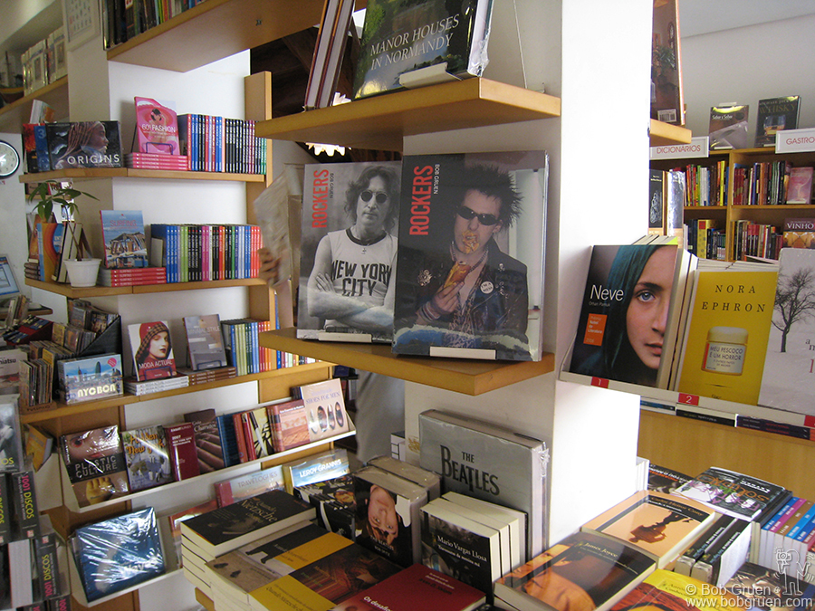 It was cool to see that my book 'Rockers', the catalogue of the exhibition, was on display in the local stores.