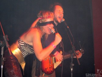 At the Inferno, Bionica singer Joana C4 looks good with a blindfold, as they played a real rockin' set!