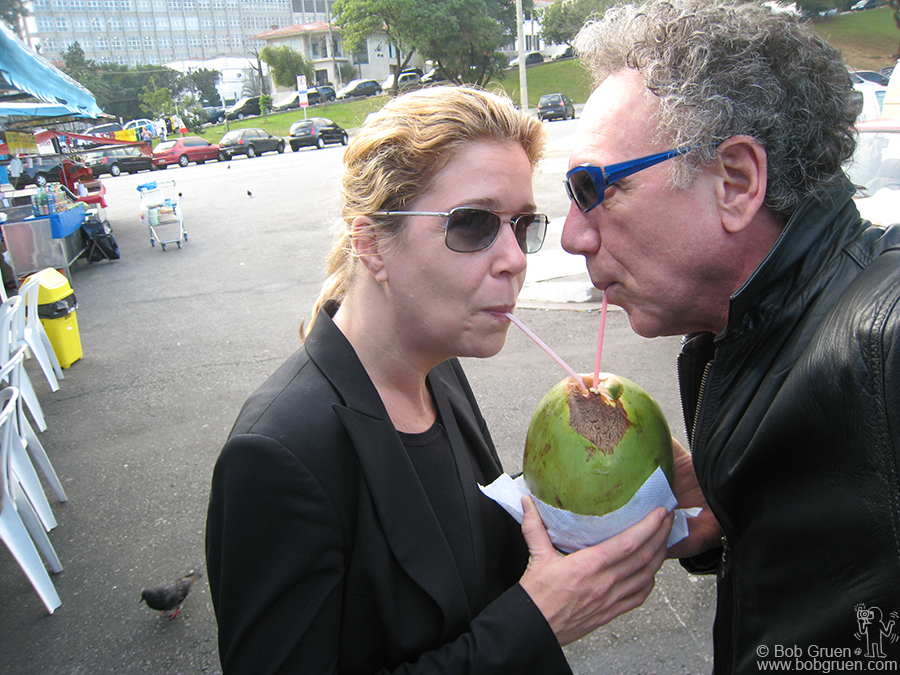 There's a farmer's market in front of the stadium down the block where Elizabeth and I shared a coconut.