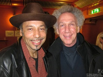 Nov. 19 - London - I got to catch up with my old friend, bassist Tony Garnier, after he played in the Bob Dylan show at HMV Hammersmith Apollo.