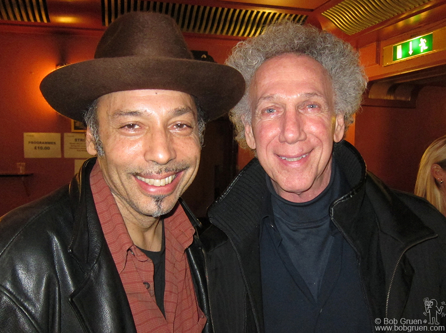 Nov 19 - London - I got to catch up with my old friend, bassist Tony Garnier, after he played in the Bob Dylan show at HMV Hammersmith Apollo.