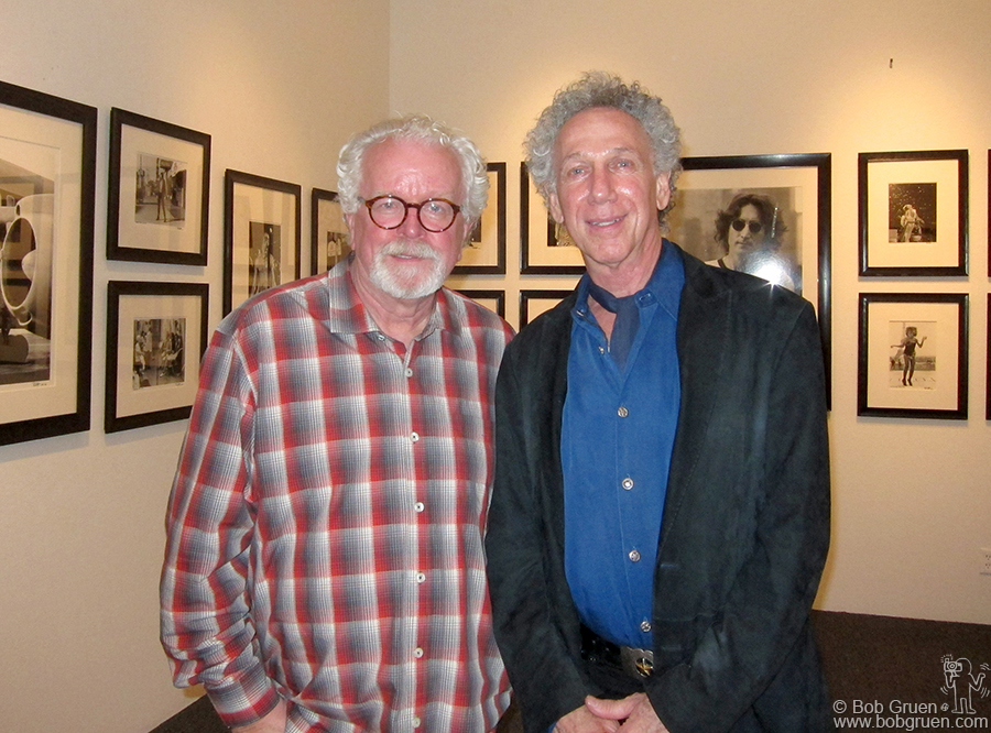 Nov 30 - Los Angeles - In the calm before the crowded opening of my exhibition at the Fahey/Klein Gallery, David Fahey and I check out the display.
