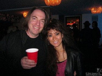 My friends, Road manager Andrew Burns and his wife Yuki, at the Iggy Pop show.