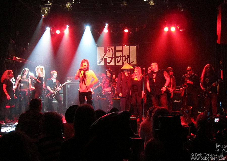 Dec 15 - NYC - David Johansen led the big finale which included Bebe Buell, and the Uptown Horns and Trigger, who get a very big Thank You! for organizing the Don Hill Memorial concert.