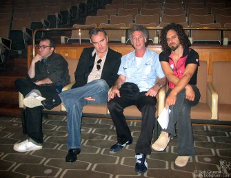 During the NY Dolls sound check, I sat for a while with Morrissey and his manager Jed (on left) and Royal Festival Hall Director Glenn Max.