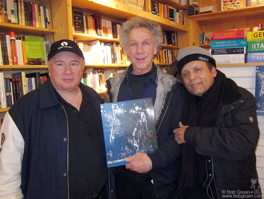 Jan 23 - Utah - Sundance Film Festival - Famous Toby Mamis and Garland Jeffreys came to see my booksigning at Dolly's book store on Main Street in Park City.