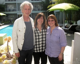 Feb. 25 - Staying at my 'home away from home' the Sunset Marquis hotel, I ran into Karen Whitford, wife of Aerosmith guitarist Brad Whitford. Karen was my photo assistant in the '70's and hired Karla Merrifield, (on the right) who was the photo assistant who brought organization to my life. Karla came to the hotel to meet for lunch when we had this happy reunion.