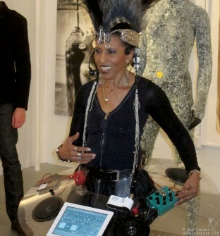June 5 - Nona Hendryx at her FEAR OR LOVE! exhibit at the Catm Chelsea Gallery