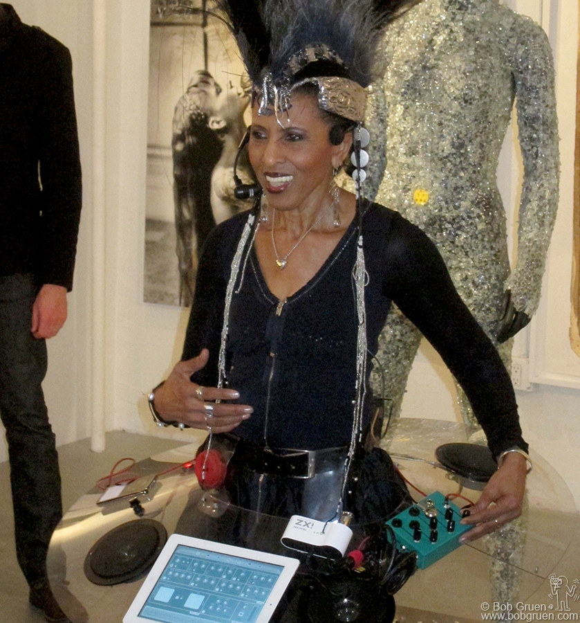 June 5 - NYC - Nona Hendryx at her FEAR OR LOVE! exhibit at the Catm Chelsea Gallery