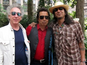 June 10 - I went with my friend, the great harmonica player Hook Herrera, to the Bar-B-Que festival at Madison Square Park where we saw Alejandro Escovedo play.