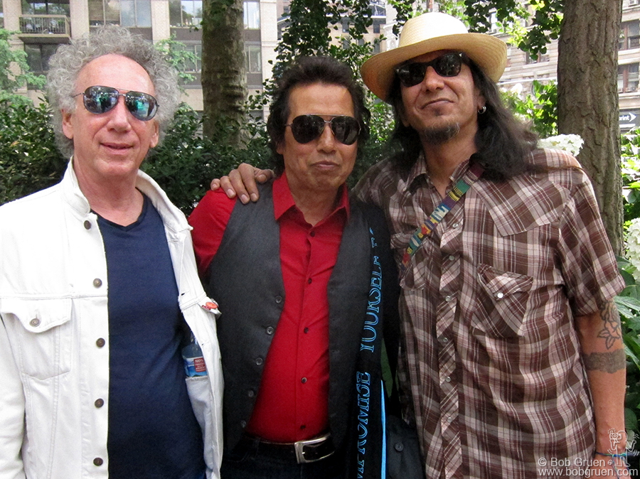 June 10 - NYC - I went with my friend, the great harmonica player Hook Herrera, to the Bar-B-Que festival at Madison Square Park where we saw Alejandro Escovedo play.