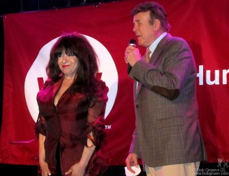 June 13 - Ronnie Spector, introduced by radio dj 'Cousin Brucie' was an honoree and performer at the Why Hunger Benefit.