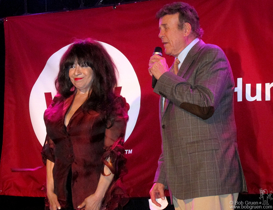 June 13 - NYC - Ronnie Spector, introduced by radio dj 'Cousin Brucie' was an honoree and performer at the Why Hunger Benefit.