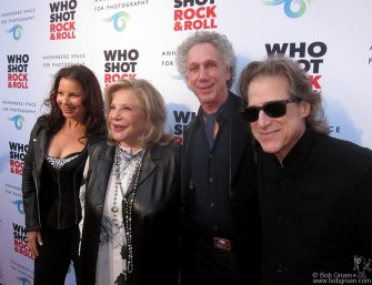 June 21 - On the red carpet at the 'Who Shot Rock & Roll' opening; Fran Drescher, Wallis Annenberg, me and my friend Richard Lewis. I'll be back to give a talk at the exhibition on September 27th.