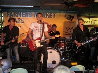 June 22 - The International Swingers - Glen Matlock, Gary Twinn, Clem Burke And James Stevenson played at the Farmers Market in Los Angles.
