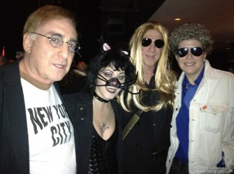 Kenny Laguna did his best to look like John Lennon, and Joan Jett was catlike at Billie Joe's birthday party.