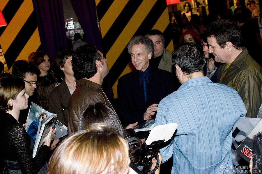 Bob was signing copies of his 'Rockers' book and was surrounded by fans all night.