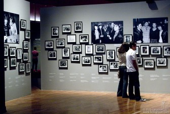 The 'Backstage' area has over 70 black & white photos. The soundtrack here is Bob's 'Imaginary Pictures' - a recorded stroll on New York streets with occasional camera clicks.