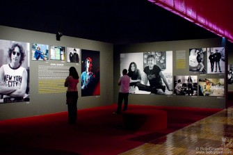 The John Lennon section has a selection of Bob's intimate Lennon photos. There are short texts by Bob throughout the exhibit.