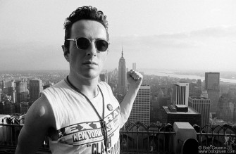 Joe on top of New York City, June 1981.