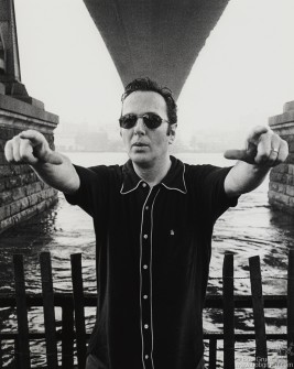 Joe under the Brooklyn Bridge June 1999.