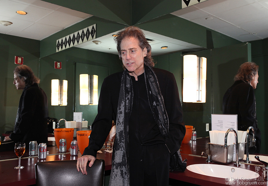 Dec 2 - NYC - Back in New York for one night, I finally got to take photos for Richard Lewis, seen here backstage at Caroline's Club.