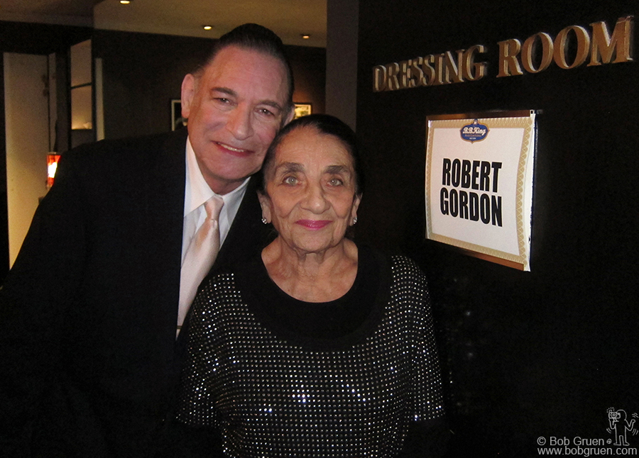 Jan 11 - NYC - Backstage at BB King's Club in Times Square I got a shot of Robert Gordon with his mom.