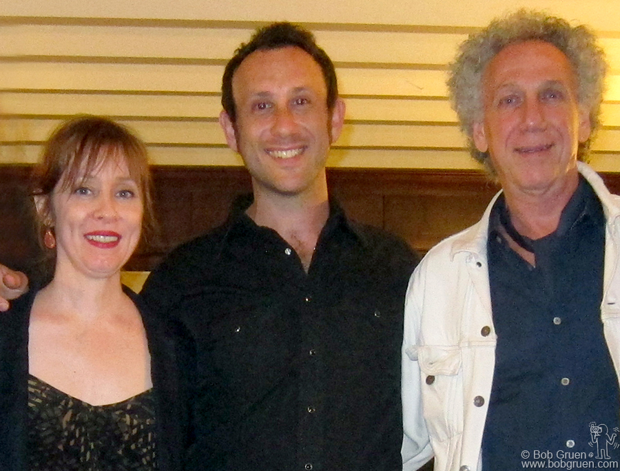 July 29 - Plainfield, VT - Suzanne Vega, Bob and Kris Gruen after Suzanne's benefit show for WGDR/WGDH Goddard College radio, organized by Kris.