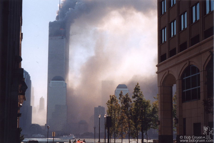 When I reached Jersey City, the tunnel to NY was closed so I parked and walked to the waterfront. By the time I got there, the south tower had fallen. A cop told me to move to the next street over.