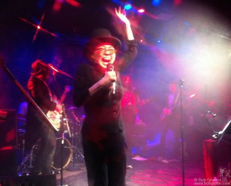 Feb. 18 - New York - We rushed back to New York to go to Yoko Ono's 79th birthday party where she rocked out with a great band led by her son Sean.