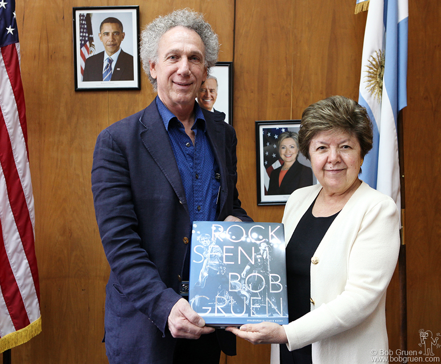 Dec 13 - Buenos Aires, Argentina - American Ambassador Vilma Martinez greeted me at her office in Buenos Aires, and we had a warm talk.