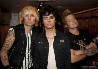 September 13 - New York City - Green Day backstage at 'America's Got Talent.'