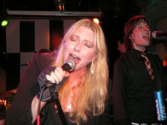 Bebe Buell showcased songs from her new album for the crowd at my party with a band led by her husband Jim Walls. There is a small caricature of me in her new video for her song 'Air Kisses for the Masses'.