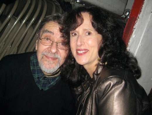 Oct 23 - NYC - The very generous Giorgio Gomelsky, above with his good friend Janice Daley, was the host of my 64th birthday party at his loft.
