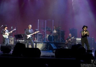 The highlight of the night was when Eric Clapton came onstage with drummer Jim Keltner and bass player Klaus Voorman for a reunion of the original 'Plastic Ono Band'.