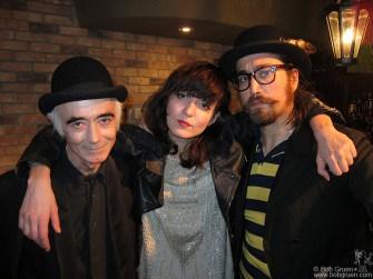 "BP Fallon, Irina Lazareanu and Sean Lennon after their ""Operation Juliet"" show at TenOak."