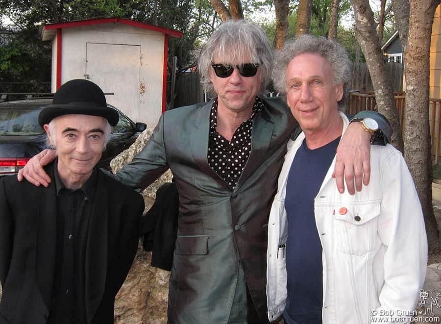 BP Fallon, Sir Bob Geldof and me backstage at Jovita's.