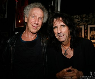 Sept 11 - I got in a photo with Alice when he appeared at the party celebrating the 10th anniversary for John Varvatos's clothes company at John's store in the old CBGB space on the Bowery.