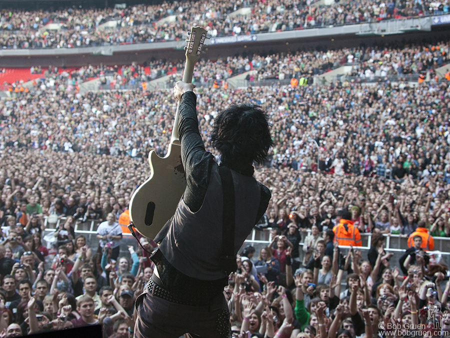 June 19 - London - Billie Joe in London at Wembley in front of 71,000 people, the biggest show Green Day ever headlined.