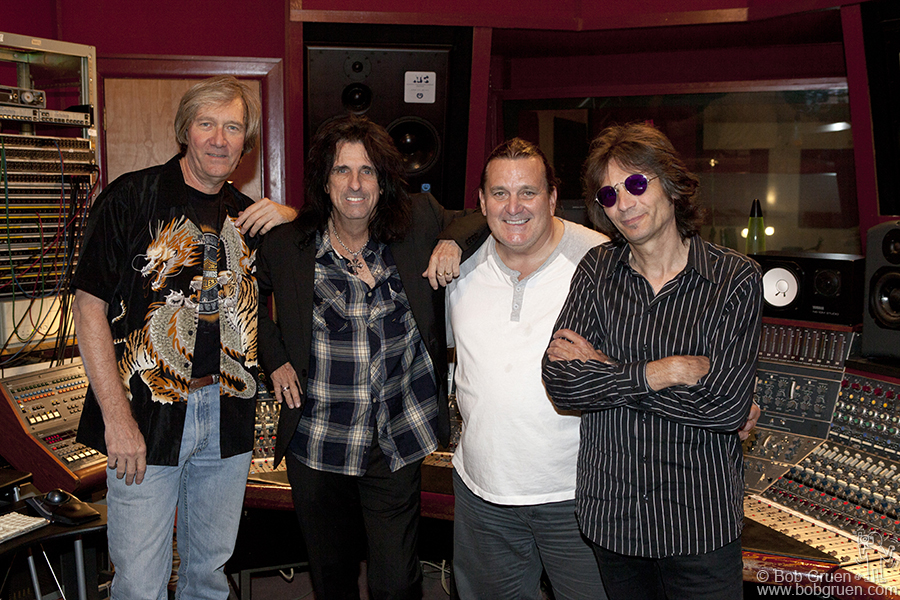 Sept 8 - NYC - The original Alice Cooper band reunited in a studio in New York to see how they sounded playing together after all these years.