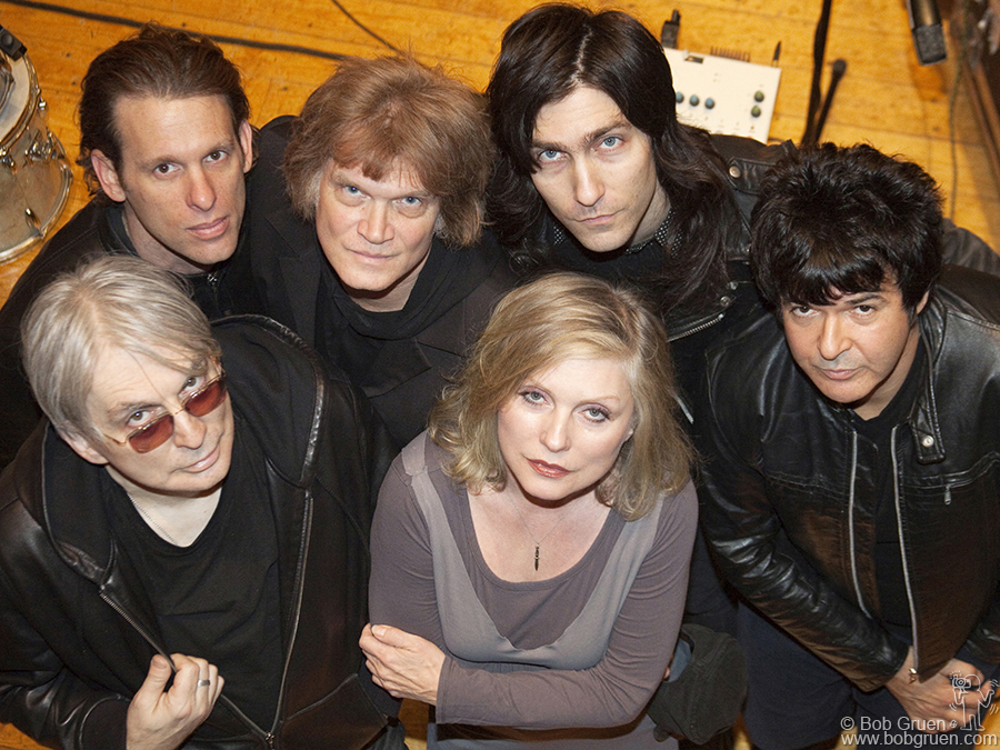 Nov 6 - Woodstock - I went to Woodstock where the Blondie group was recording a new album. They are Chris Stein, Paul Carbonara, Leigh Foxx, Debbie Harry, Matt Katzbohen and Clem Burke.