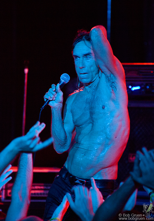 Sept 3 - Monticello, NY - Iggy Pop was the headliner at the 'All Tomorrow's Parties' festival.