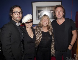 Sept 16 - Sean, Yoko, Cynthia & Julian Lennon all came to see an exhibition of Julian's photographs at the Morrison Hotel Gallery on the Bowery. It was the first time all four were together in public, and everyone had a good time looking at Julian's great photos.