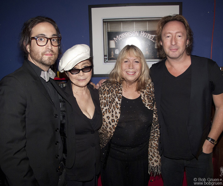 Sept 16 - NYC - Sean, Yoko, Cynthia & Julian Lennon all came to see an exhibition of Julian's photographs at the Morrison Hotel Gallery on the Bowery. It was the first time all four were together in public, and everyone had a good time looking at Julian's great photos.