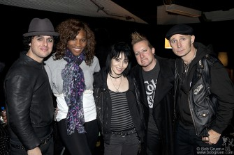 Backstage Green Day partied with Joan Jett and were joined by long time Green Day fan Serena Williams.